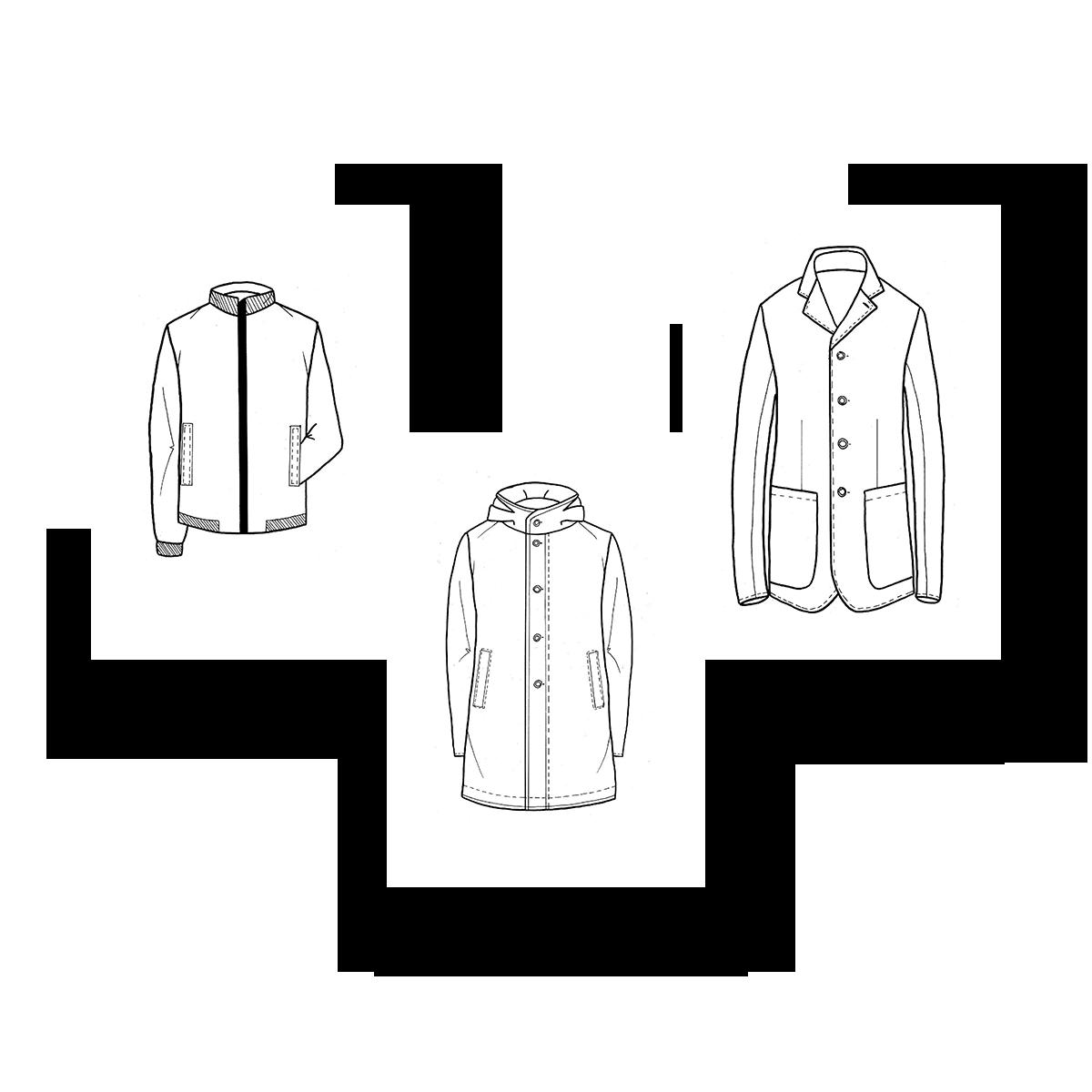 Abbigliamento moderno su misura - Archivio R Sartoria Contemporanea a Torino